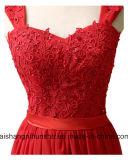 A dama de honra elegante veste o vestido formal do banquete de casamento dos vestidos do Assoalho-Comprimento do querido