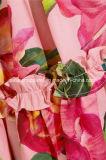 Самое лучшее сбывание Флористическ-Печатает фабрику одежды платья MIDI Хлопк-Поплина