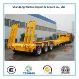 중국 제조의 반 3개의 차축 Lowbed 트럭 트레일러