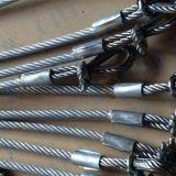 Sicherheit galvanisiertes Stahldrahtseil mit flämischem Auge