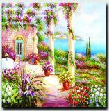 自然な景色の壁映像のホーム装飾の大きいアートワークの庭の景色の油絵