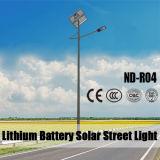 (ND-R04) luces de calle solares blancas de 30W LED para el estacionamiento