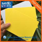 Strato rigido giallo del PVC per il biglietto da visita di stampa