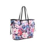 女性(MBNO043006)のためのばね様式の花柄のショルダー・バッグ