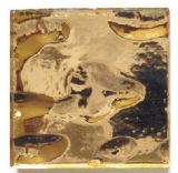 vraie mosaïque de l'or 24k dans le modèle de sandwich