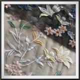 Ricamo della maglia con il ricamo floreale dei Sequins del fiore del ricamo dei Sequins dei Sequins