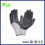 Нитрил покрыл перчатки безопасности работы раковины полиэфира защитные