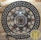 Круглый мраморный водоструйный медальон