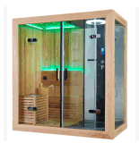 2-4人はカナダのヒマラヤスギのサウナのシャワーをコンピュータ化した