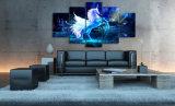 [هد] طبع صورة وحيد قرن حصان حجر السّامة مجموعة صورة زيتيّة غرفة زخرفة طبعة ملصقة صورة نوع خيش [مك-022]