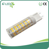 Luz do dia 5W 75SMD2835 4000k/6000k do bulbo do diodo emissor de luz G9