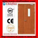 Porte résistante au feu en bois (CF-F020)