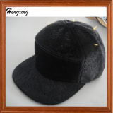 黒い方法5パネルの暖かい帽子