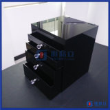 Organizzatore cosmetico acrilico nero su ordinazione all'ingrosso di trucco