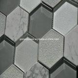 Mosaico de cerámica y de cristal del crujido hexagonal del hielo 2016 (OYT-S14)