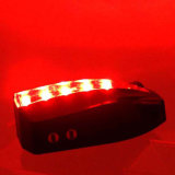Recarregável ou operado por AAA Battery 5 LED 2 Laser Project Logo Traseira Bike Tail Light