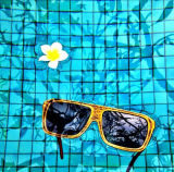 De Houten Zonnebril van de Bestseller met de Lens van de Spiegel