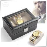 Caixas de relógio personalizadas do plutônio luxo Handmade de couro para homens
