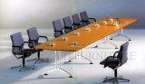 Tabla de diseño rectangular Conferencia moderna de madera Mesa de reuniones de muebles de oficina