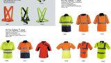Usura riflettente del lavoro dei vestiti di sicurezza della maglia di alta visibilità