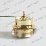 化粧品の包装のための30g金の王冠のアクリルのクリーム色の瓶(PPC-NEW-007)
