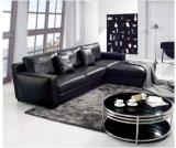 家の使用(SF010)のための2016熱い販売L形の黒の革ソファー