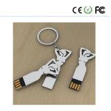 Kundenspezifisches Firmenzeichen auf dem Metallkunst-Schönheits-Mädchen USB-Blitz-Laufwerk