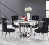 Glass moderno Dining Table e Stainless Steel Dining Table