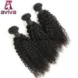 ねじれたカールの自然なペルーのバージンの毛の拡張