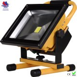 CE&RoHS Waterproof 6hrs Portable Rechargeable 50W LED Flood Light