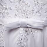 Платья венчания втулки шнурка сбор винограда шифоновые длинние (TM-MS036)