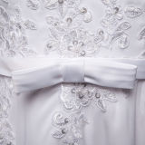 Vestidos de casamento longos Chiffon da luva do laço do vintage (TM-MS036)