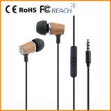 Fone de ouvido estéreo de madeira para celular (REP-809)