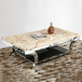 Stainless Steel Frame (A501)를 가진 대리석 Top Dining Table