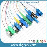 Cordon de connexion optique LC/APC de qualité de fibre recto du mode unitaire