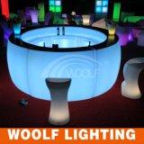 가득 차있는 라운드 LED 곡선 바 카운터를 바꾸는 플라스틱 색깔