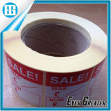 Auto-adhésif Red Sale Roll Label Used for Shopping