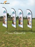 bandierina della piuma di stampa di mostra di 4.5m doppie/bandiera laterali di alluminio di volo