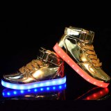 LED Light Up Silver Gold Party Night-Club Hommes Femmes Chaussures LED