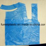 Plastic Witte In reliëf gemaakte Beschikbare PE Schorten