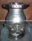 Acier inoxydable rf d'extrémité de bride de robinet d'arrêt sphérique