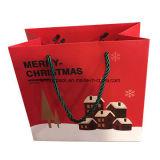 Sac de cadeau de papier de Noël de satin