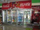 Supermarché Using le réfrigérateur en verre Heated d'étalage (dédoubler le type)