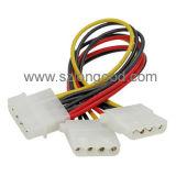 Câble d'alimentation de diviseur de Y assemblé par coutume avec la tension
