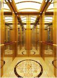 乗客のエレベーターの上昇の高品質の金ミラーはAksen Ty-K158をエッチングした
