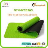 Циновка йоги тренировки TPE Eco содружественная с сплошным цветом