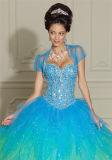 La qualité chaude neuve a perlé la robe sexy de bal d'étudiants fendue par haute Backless, personnalisée
