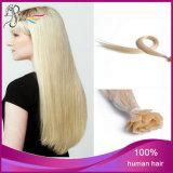 Cheveux humains d'extrémité de prolonge plate droite de cheveu