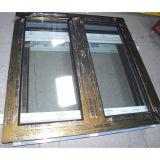 전기 이동법 지상 처리 Brozne 색깔 알루미늄 단면도 여닫이 창 Windows Kz092