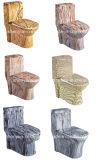 مرحاض خزفيّ [أن-بيس] [وتر كلوست] خشبيّة نسيج لون مرحاض ([أ-007س])